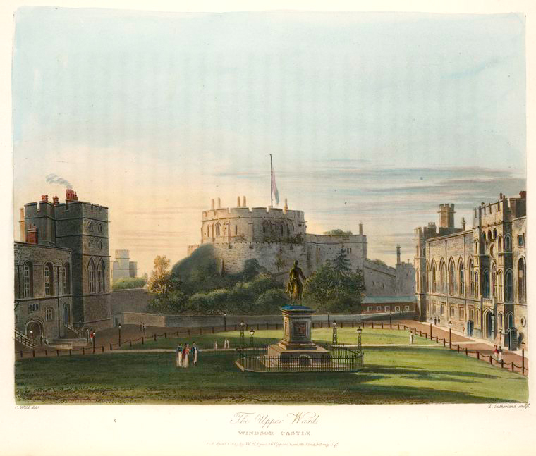 The Upper Wards - Windsor Castle. (1819).jpeg