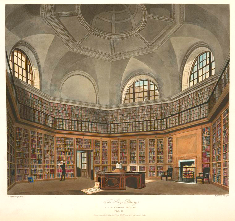 1The King's Library - Buckingham House. (1819).jpeg