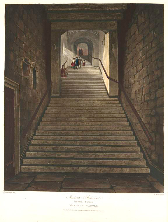 Ancient Staircase (Round Tower) - Windsor Castle. (1819).jpeg