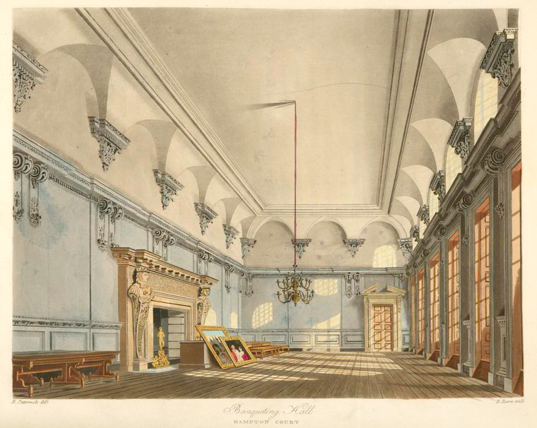 Banqueting Hall - Hampton Court. (1819).jpeg