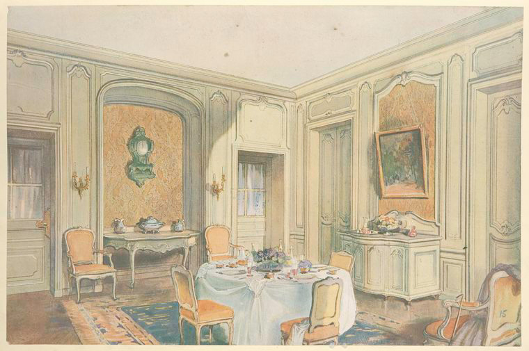 Salle a manger Louis XV, d'ordonnance simple.... [Dining room.] (1907).jpeg