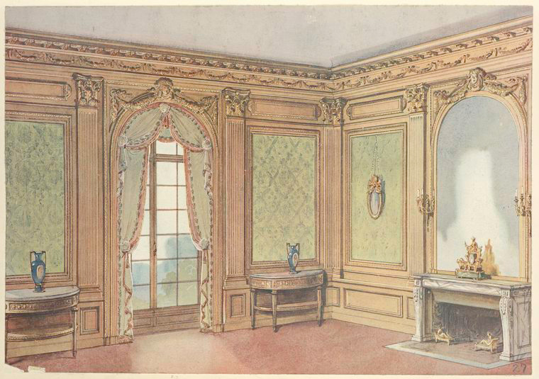Salle a manger Louis XVI.... [Corner of a dining room with fireplace.] (1907).jpeg