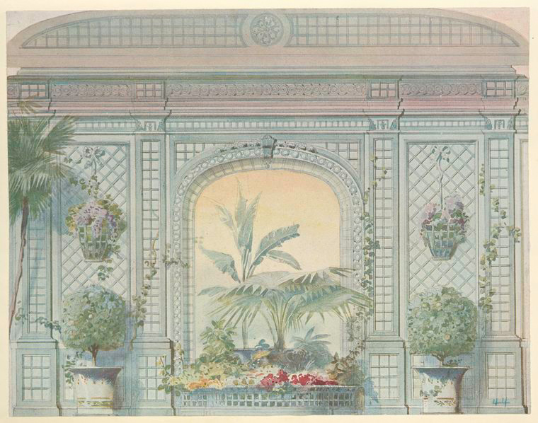 Serre en treillage.... [Conservatory, greenhouse, with palms and flowers.] (1907).jpeg