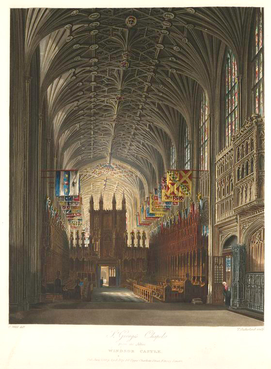 St. George's Chapel from the Altar - Windsor Castle. (1819).jpeg