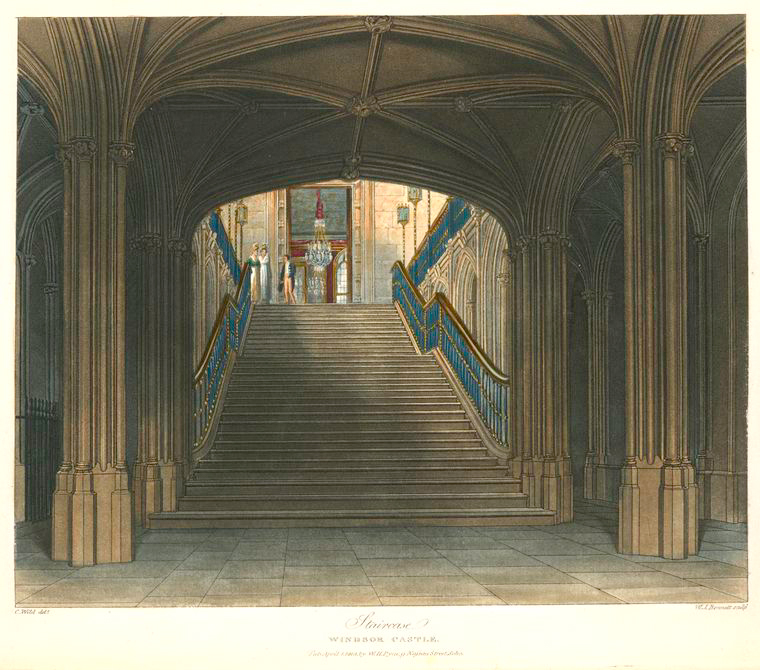 Staircase - Windsor Castle. (1819).jpeg